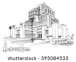 touristic complex  traditional... | Shutterstock . vector #395084533