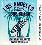 surf typography  t shirt... | Shutterstock .eps vector #395092963