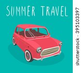 red car vector isolated. summer ... | Shutterstock .eps vector #395103397