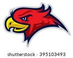 eagle head mascot  colored...   Shutterstock .eps vector #395103493