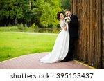 wedding day  beautiful bride...   Shutterstock . vector #395153437