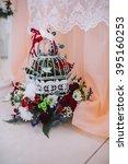 elegant wedding decorations... | Shutterstock . vector #395160253