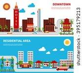city districts banners with... | Shutterstock .eps vector #395179213