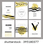 collection of creative cards....   Shutterstock .eps vector #395180377