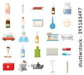 medicine icons set | Shutterstock .eps vector #395183497