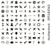 100 aviation icons set | Shutterstock .eps vector #395183563