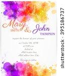 wedding invitation template... | Shutterstock .eps vector #395186737