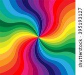 vector illustration. rainbow... | Shutterstock .eps vector #395193127