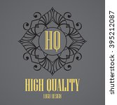 simple monogram design template....   Shutterstock .eps vector #395212087