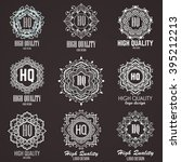 monogram design elements ... | Shutterstock .eps vector #395212213
