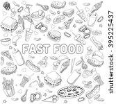 raster illustration of fast... | Shutterstock . vector #395225437