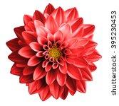 surreal dark chrome red flower... | Shutterstock . vector #395230453