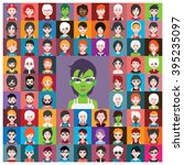 set of avatars | Shutterstock .eps vector #395235097
