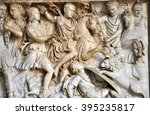Bas Relief And Sculpture Of...