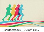 sport concept background with... | Shutterstock .eps vector #395241517
