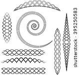 celtic knot ornaments set of...   Shutterstock .eps vector #395250583