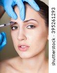 beauty woman giving medical... | Shutterstock . vector #395261293