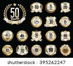 anniversary badges. set of... | Shutterstock .eps vector #395262247