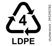 plastic recycling symbol ldpe 4 ... | Shutterstock .eps vector #395290783