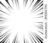 Abstract comic book flash explosion radial lines background. Vector illustration for superhero design. Bright black white light strip burst. Flash ray blast glow. Manga cartoon hero fight print stamp | Shutterstock vector #395301793