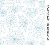 spider's web seamless...   Shutterstock .eps vector #395303923