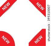 set of corner labels. corner... | Shutterstock .eps vector #395310007