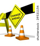 change ahead traffic block... | Shutterstock . vector #39531154