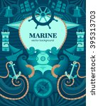 vector marine background with... | Shutterstock .eps vector #395313703