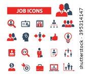 job icons  | Shutterstock .eps vector #395314147