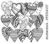 set of hand drawn hearts.... | Shutterstock . vector #395316157