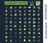 supermarket shopping icons  | Shutterstock .eps vector #395328433
