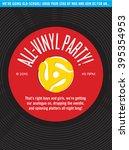 all vinyl record party... | Shutterstock .eps vector #395354953