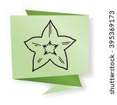 star fruit doodle | Shutterstock . vector #395369173