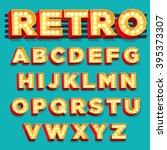 vector retro theater sign... | Shutterstock .eps vector #395373307