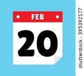 calendar icon flat february 20