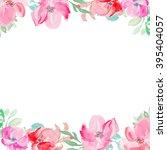 watercolor flower background   Shutterstock . vector #395404057