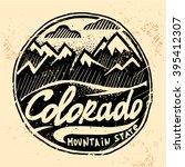 colorado vintage western print... | Shutterstock .eps vector #395412307
