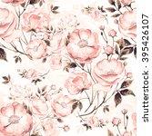 seamless pattern of wild rose c ... | Shutterstock . vector #395426107