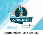 commitment  concepts for... | Shutterstock .eps vector #395426683