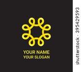 abstract flourish circle logo...   Shutterstock .eps vector #395429593