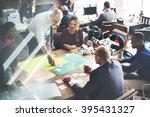 business people meeting... | Shutterstock . vector #395431327