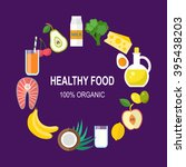 healthy food vector template.... | Shutterstock .eps vector #395438203
