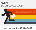 hr  why do employees leave ... | Shutterstock .eps vector #395446687