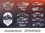 Set Vintage Lowrider Logo ...