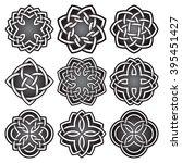 set of logo symbols in celtic...   Shutterstock .eps vector #395451427