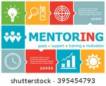 mentoring design illustration... | Shutterstock .eps vector #395454793