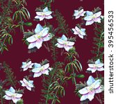 seamless raster pattern with... | Shutterstock . vector #395456533