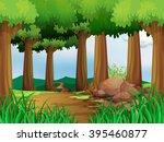 Nature Scene With Hiking Track...