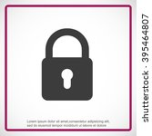 lock vector icon | Shutterstock .eps vector #395464807