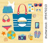 set of vector flat icons for... | Shutterstock .eps vector #395470213